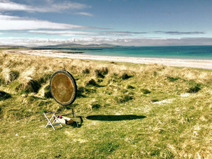 Gong on a beautiful remote beach