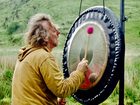 Gong in the Welsh Mountains