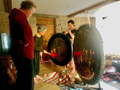 learning to play the gongs at home