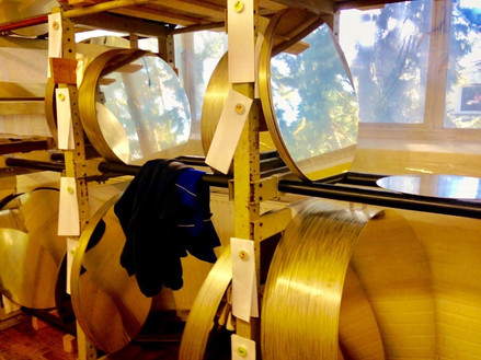 Gong blanks at the Paiste Factory, Rendsberg, Germany