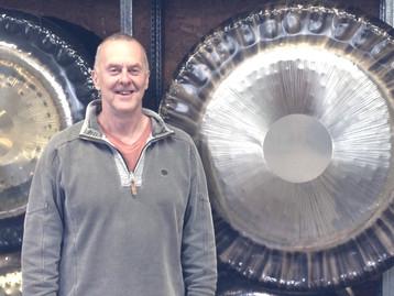 Tiger gong at the Oetken / Meinl gong workshop