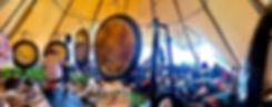 Paul Dane founder of GongSpace playing four large gongs at Soul Circus Yoga and Wellness Festival