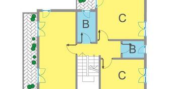 primo piano con 2 camere