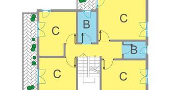 primo piano 4 camere