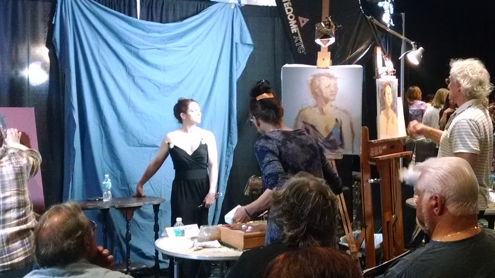 Recreation of Madame X, during this year Portrait Conference