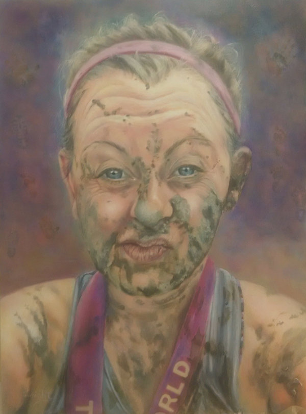 Selfie after the Race by Sandra Wright,