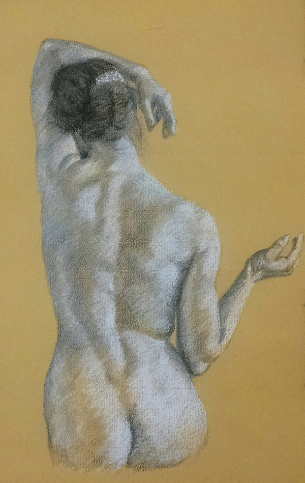 Study on a Female's back by Sandra Wrigh