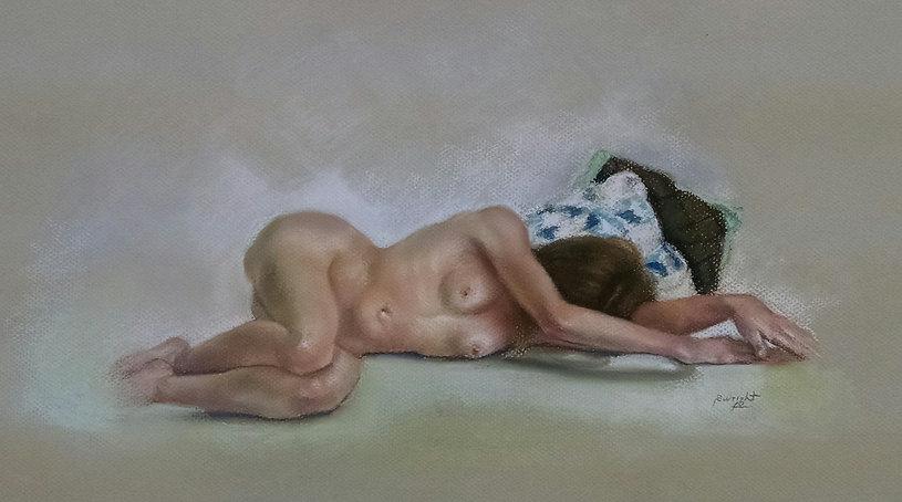 La Maja Dormida by Sandra Wright pastel