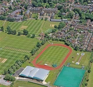 oblique sports facilites with school in