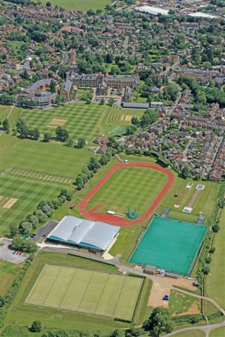 oblique sports facilites with school in