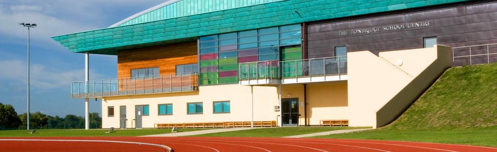 Tonbridge School Centre & track reduced.