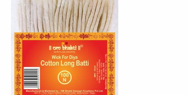 """OM Bhakti Wick for Diya - Cotton Long Batti 5"""" 100N"""