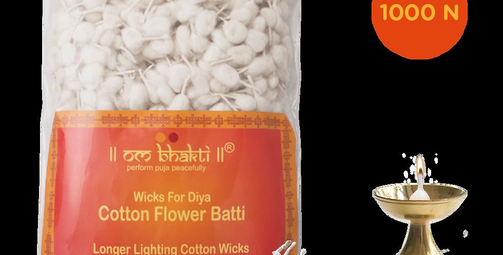 OM Bhakti cotton flower wicks (batti)