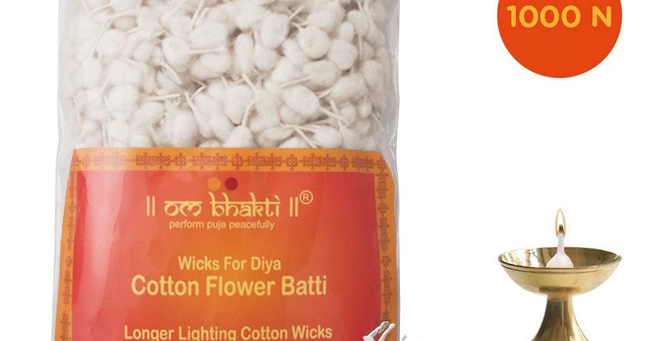 OM Bhakti Cotton Flower Wicks (Batti) - 1000N