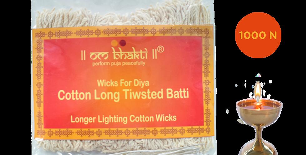 OM Bhakti Cotton (Twisted) Long samay Wicks (Batti)