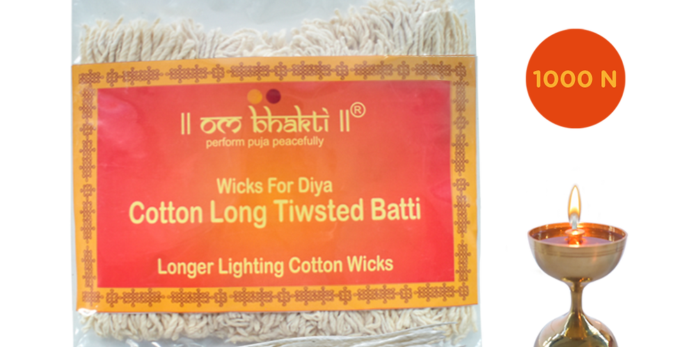 OM BHAKTi-  Cotton  (Twisted) Long samay wicks (Batti) 1000N