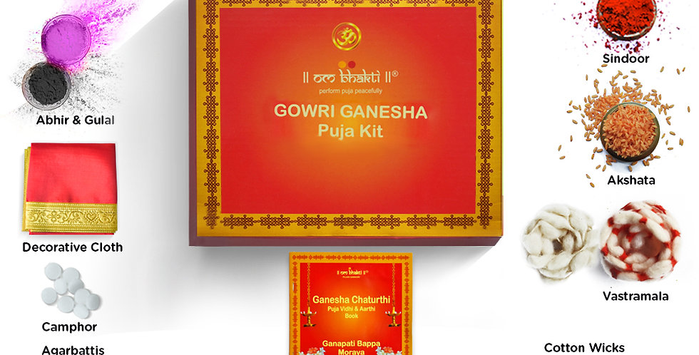 OM Bhakti - Gowri Ganesha Puja Kit