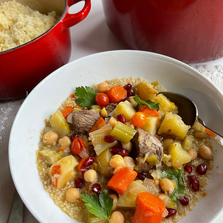 Beef and Vegetable Stew with Couscous