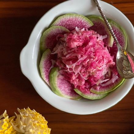Radish and Tahini Salad