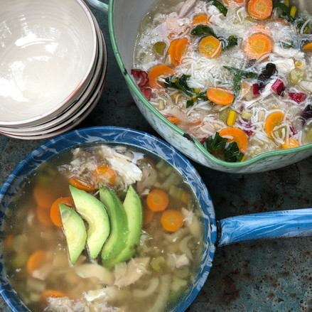 Chicken Soup Two Ways