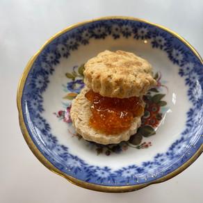 Peanut Butter Biscuits with Golden Berries  Jam