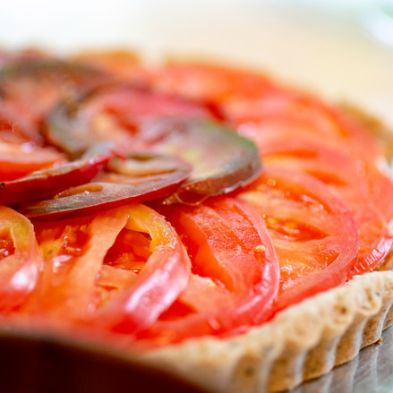 Tomato Labne Pie