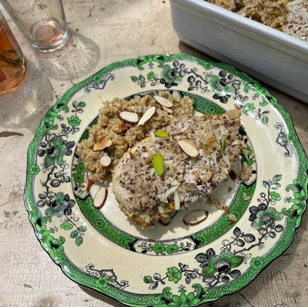 Classic Recipe for Chicken with Almonds