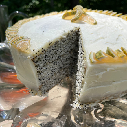 Layered Poppy Seed Cake