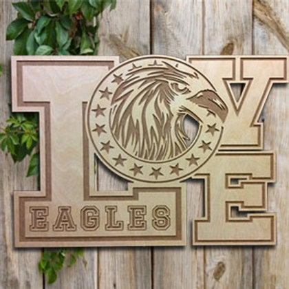 Engraved Eagles Love