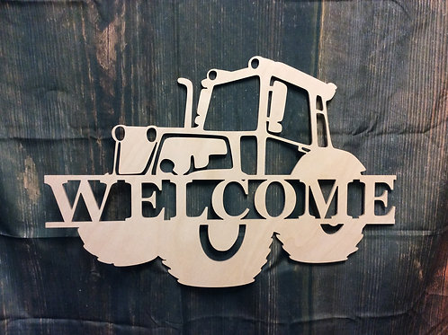 Tractor with Split Family Name