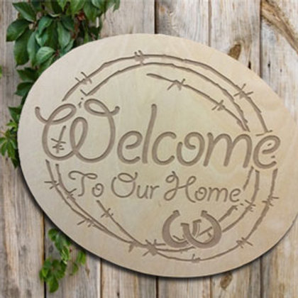 Engraved Welcome To Our Home
