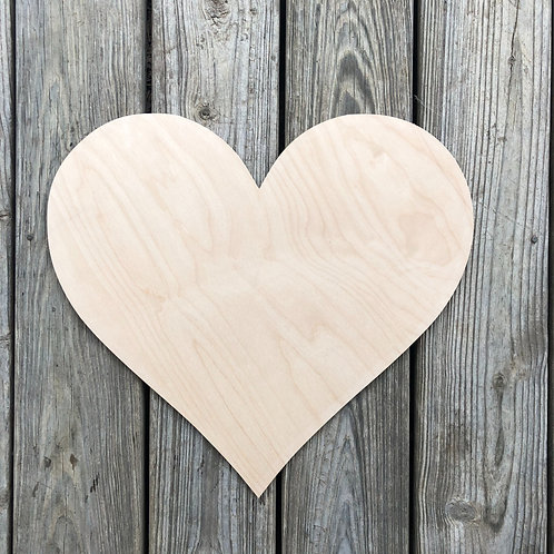 Wood Heart Unfinished