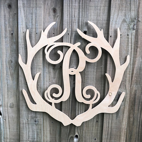 Antler with Initial