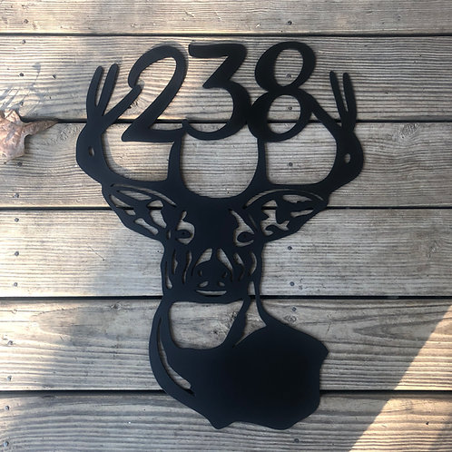 Deer Address Sign