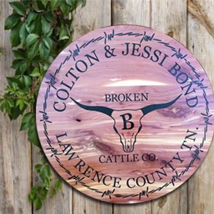 "20"" Engraved Cedar Sign"