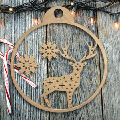 Deer with Snowflake Ornament