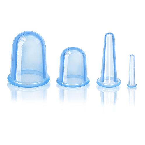 סט כוסות רוח מסיליקון רפואי - כחול