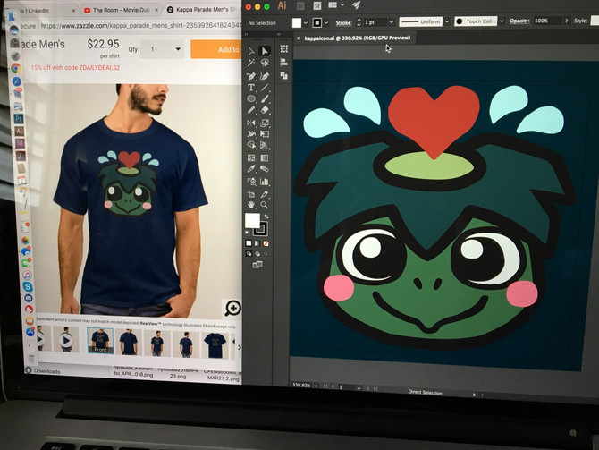 Threadless store and Kappa