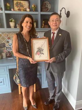 American art collector with Guixun Xu