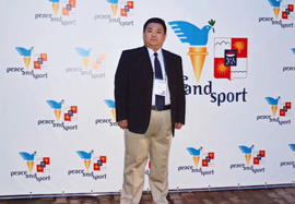 Xiaomu Feng Invited by the World Peace and Sports Organization to be a guest at the Sochi Winter Olympic Games in Russia