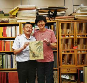 Guixun Xu with Jenny Lang Ping Women's Volley Ball Coach