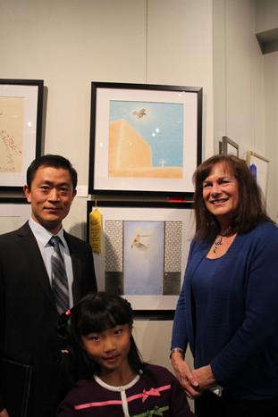 Xinyong Wang at Brazos Valley Art Center in Texas (2014)