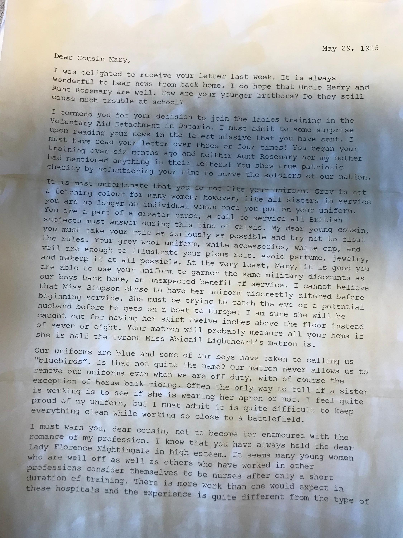 Nurses' Letters