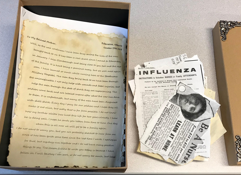 Box of Nurses' Letters