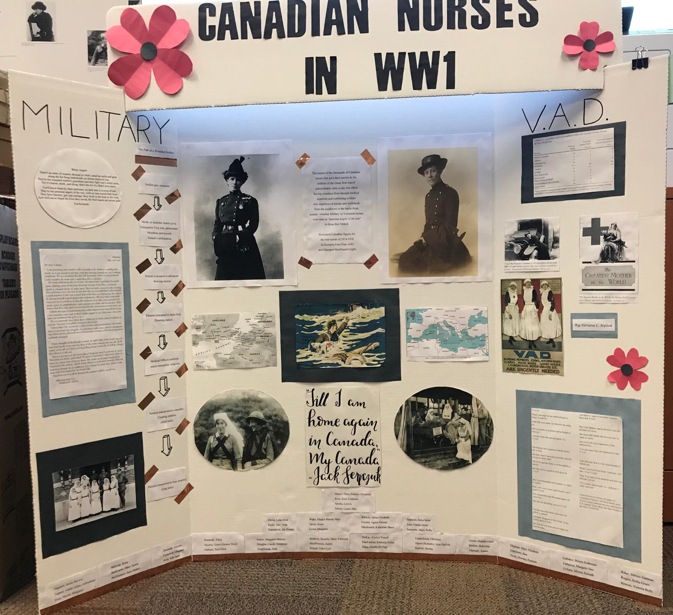 Nurses in WWI: Poster Presentation