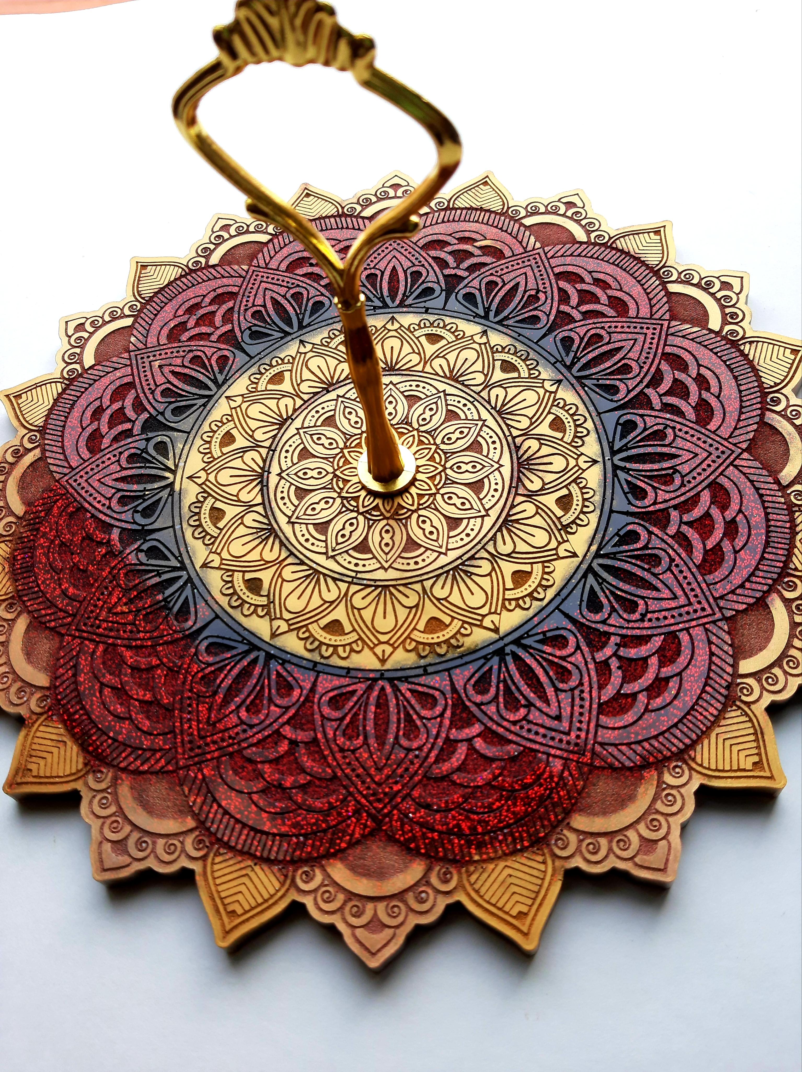 """9""""Mandala tray"""