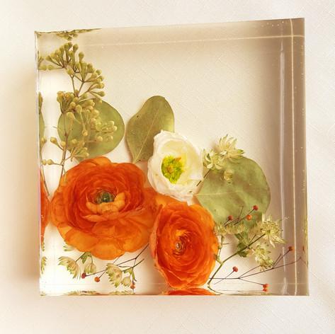 "6x6"" floral block"