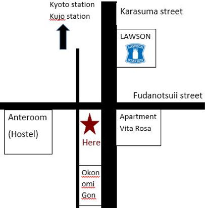 directions to japanese cooking class from kyoto station