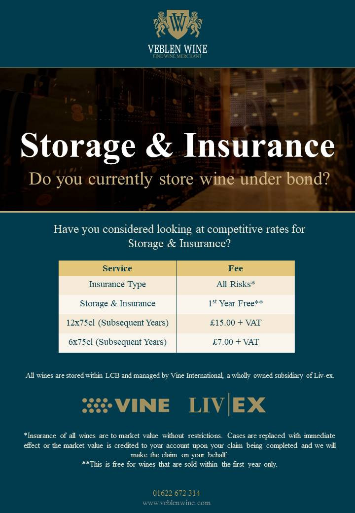 Storage & Insurance | Veblen Wines Ltd