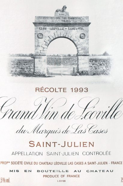 Chateau Leoville Las Cases label